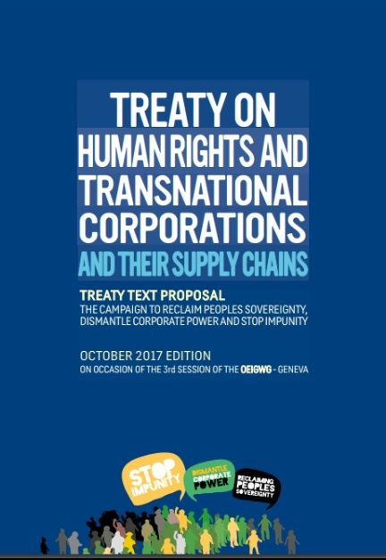 "Proposal of the ""Dismantle Corporate Power and Stop Impunity"" Campaign for an International Business and Human Rights Treaty"